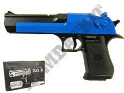 KG6 Metal Airsoft BB Gun Black and Blue